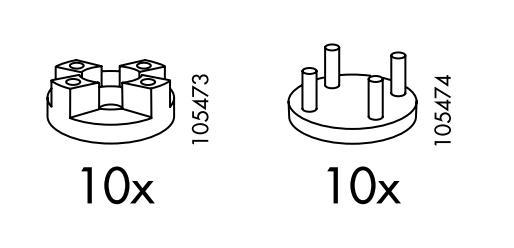 Ikea Krabb - supporti di gomma