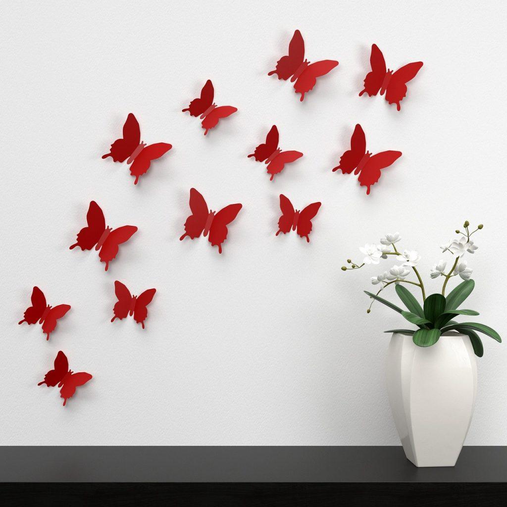 decorazione muro con adesivi murali