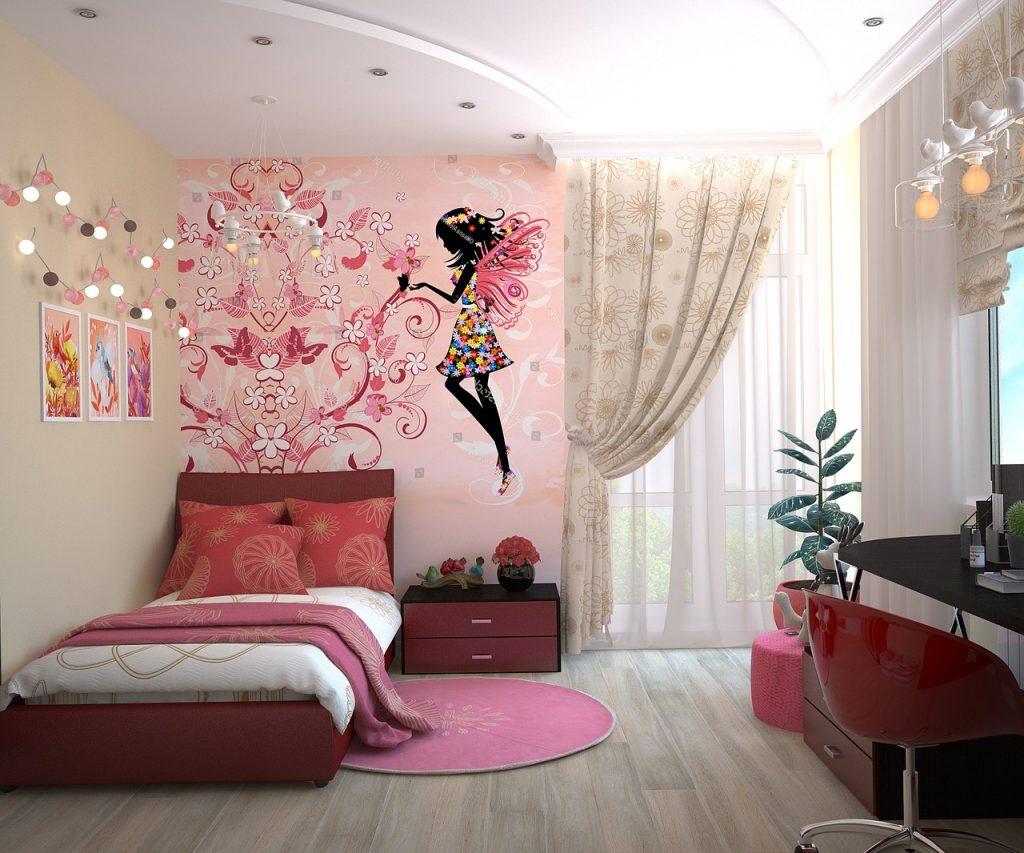 adesivi murali camera bambina