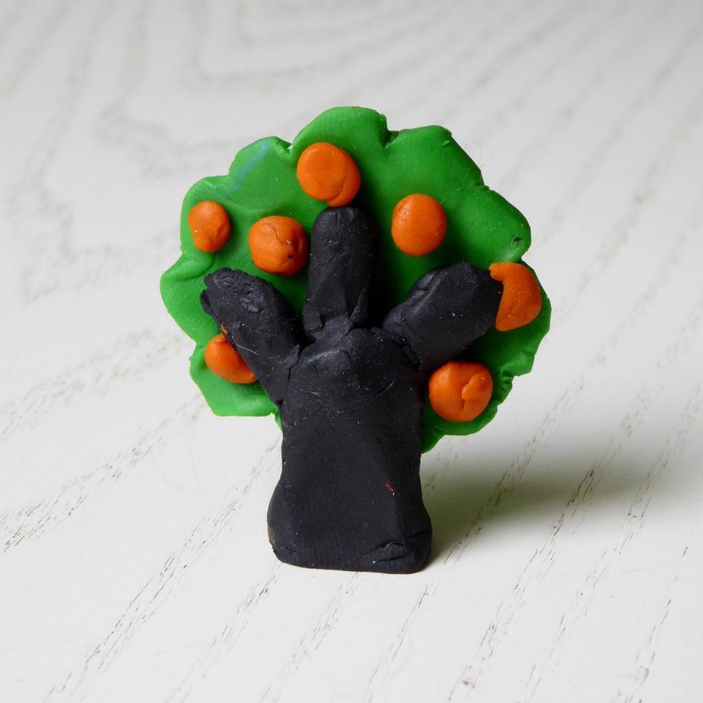 albero di plastilina