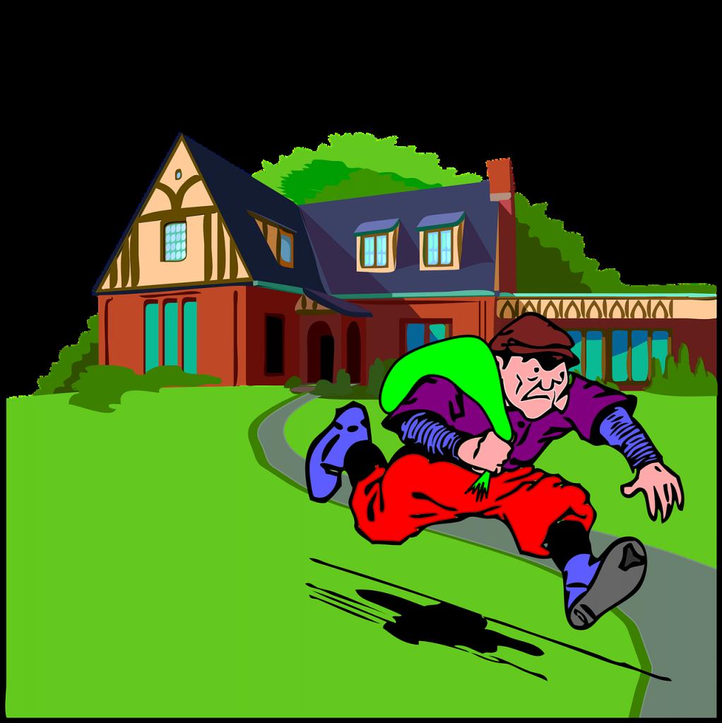 ladro che scappa