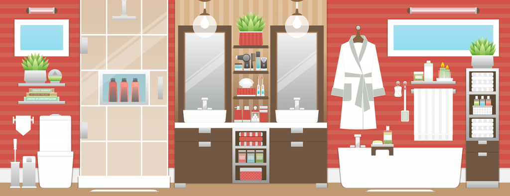 bagno con sanitari nascosti