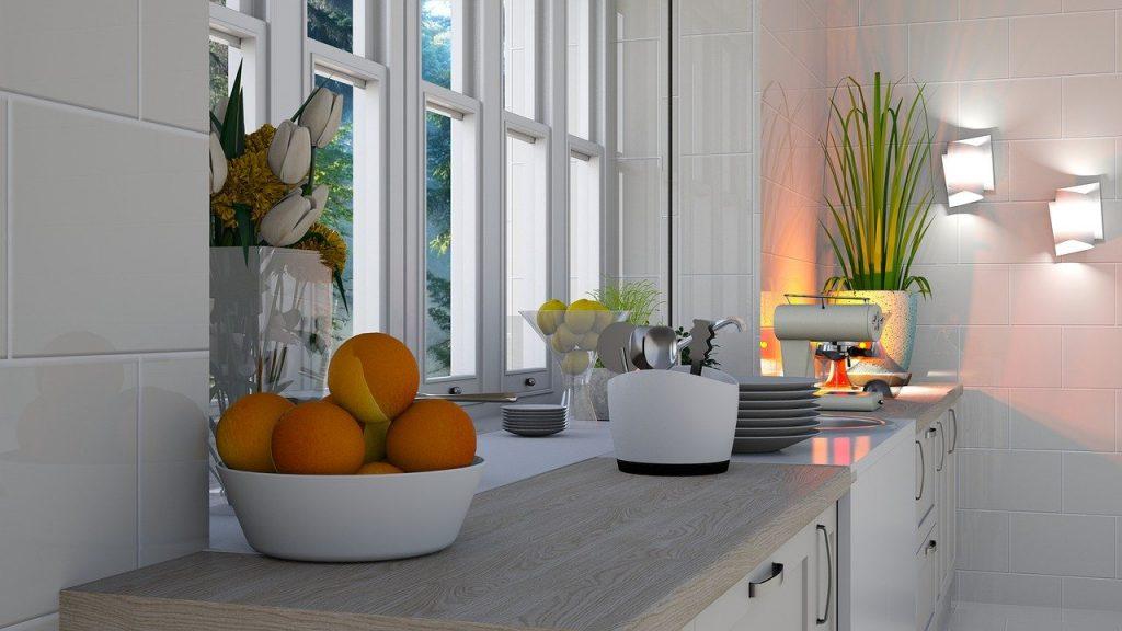 cucina con illuminazione naturale