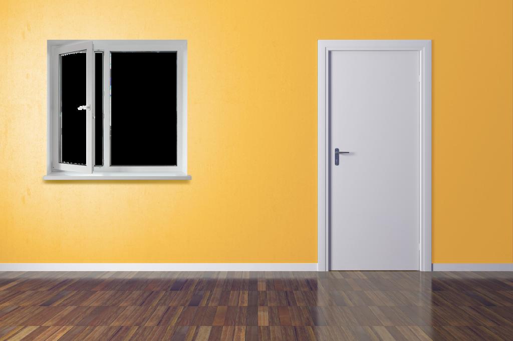 porta e pavimento stile moderno