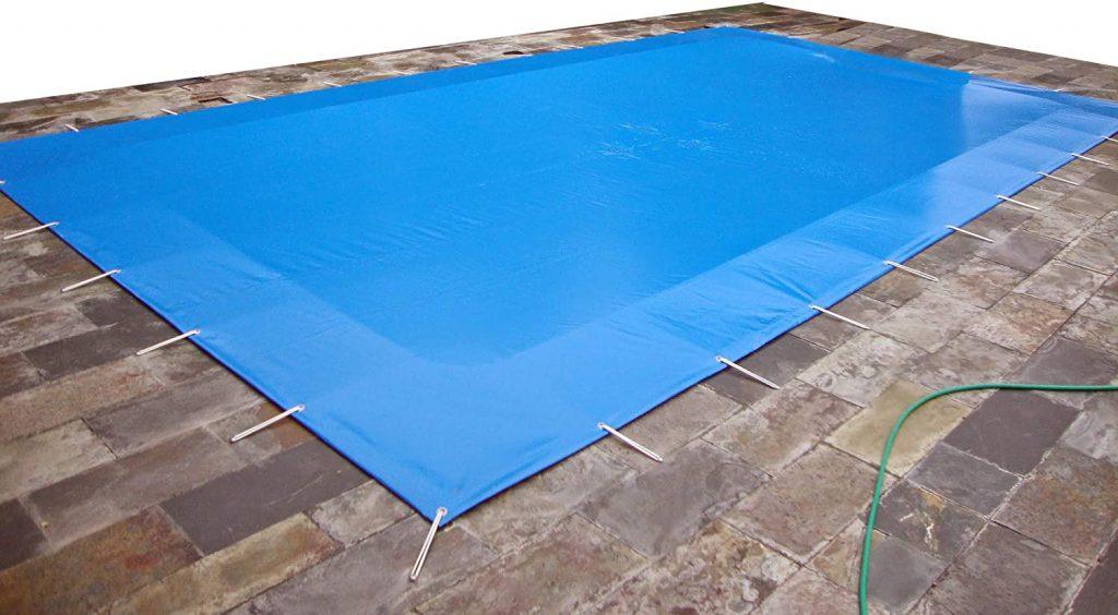 copertura piscina fissaggio a occhielli