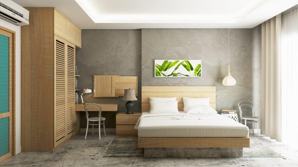 camera moderna con letto