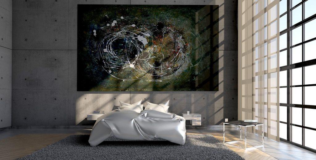 quadro grande camera da letto